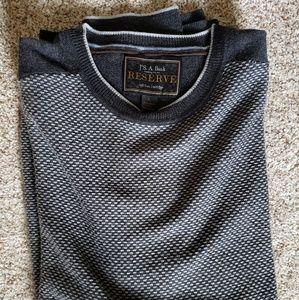Joseph A. Bank Textured Grey Merino Wool Sweater